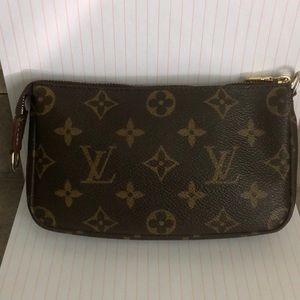 Louis Vuitton monogrammed cosmetic bag